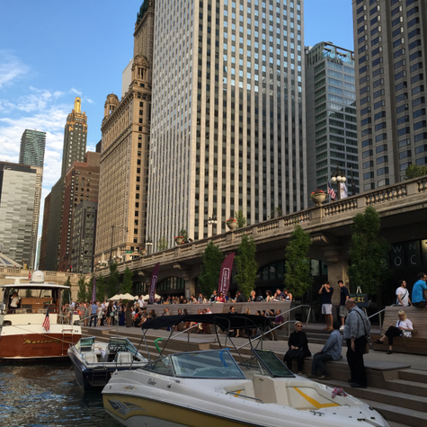 Chicago's Downtown Riverwalk